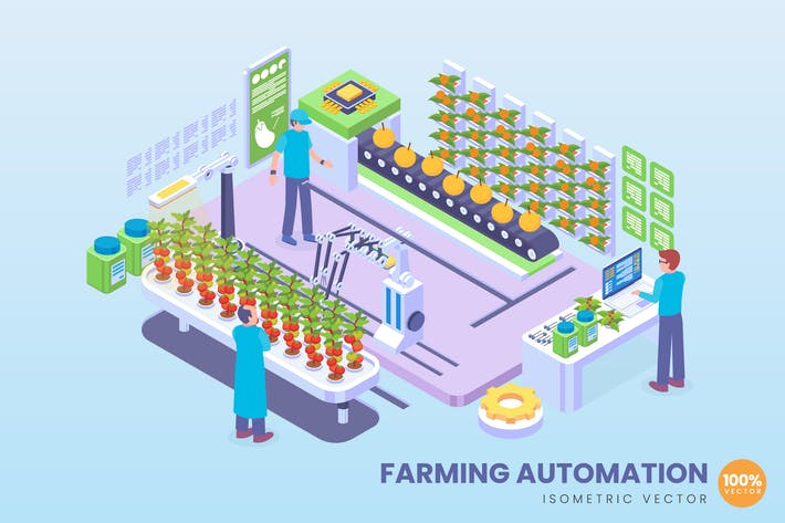 Isometrisches Automatisierungskonzept