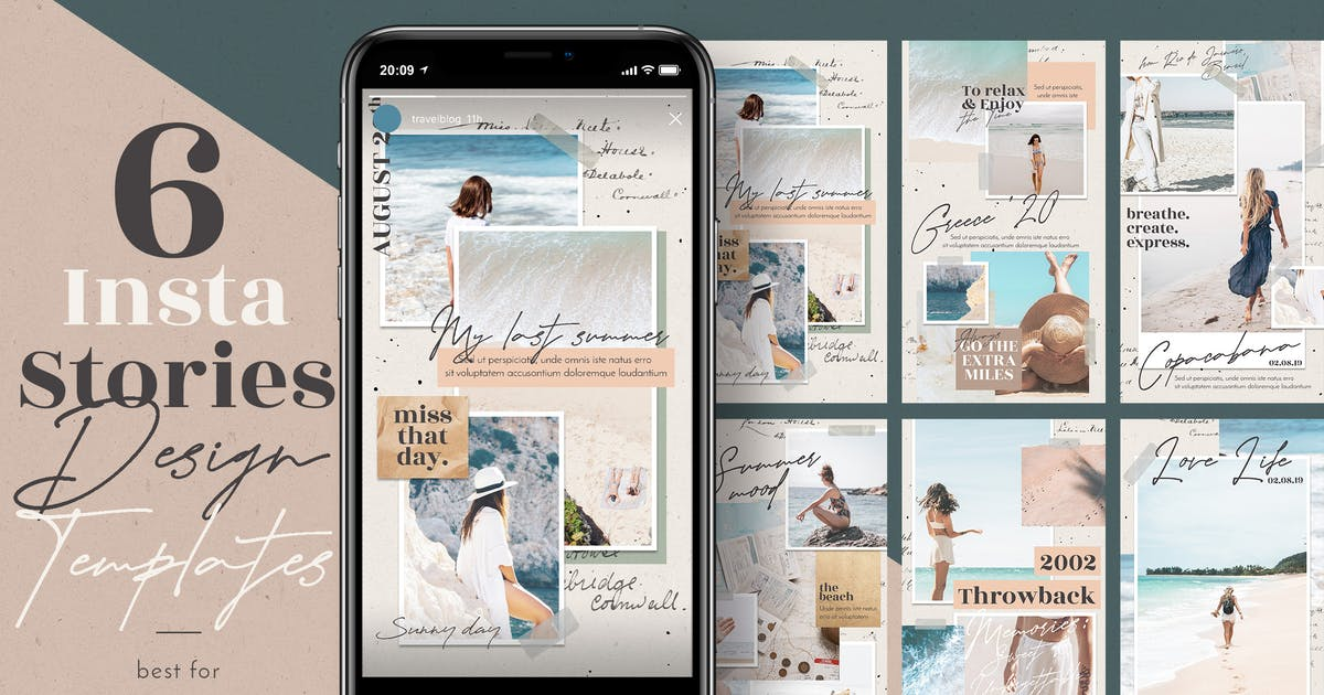 Download Travel Blog Instagram Stories by Bluerobindesignshop