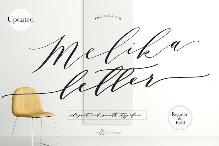 Thumbnail for Melika Letter Font Script