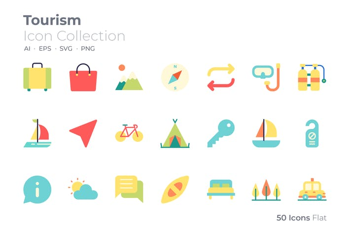 Icône de couleur touristique