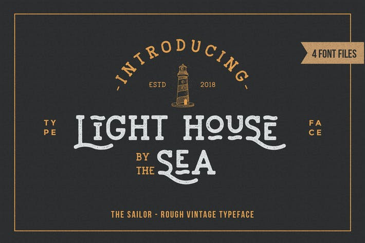 Thumbnail for LightHouse - Sailor Rough Typeface