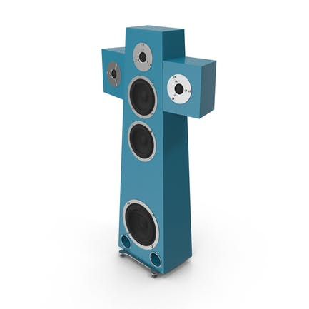 High End Speaker Blue Green