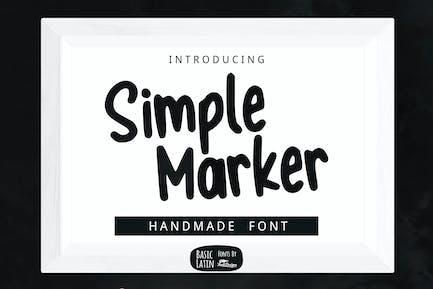 Simple Marker Font