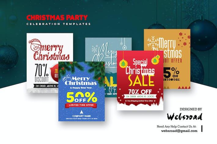 Thumbnail for Christmas Party Celebration Templates