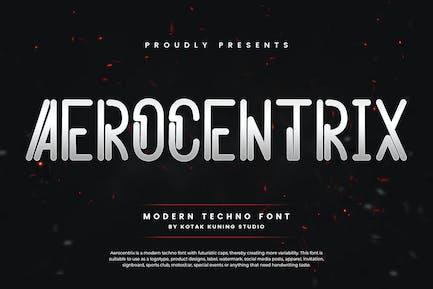 Aerocentrix - Modern Techno Font