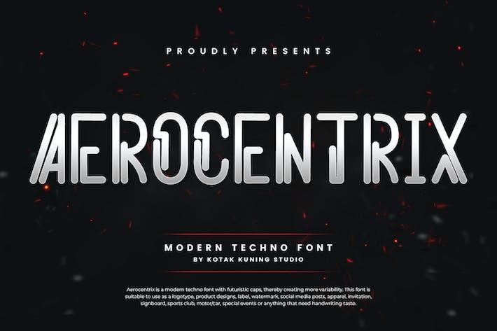 Thumbnail for Aerocentrix - Modern Techno Font