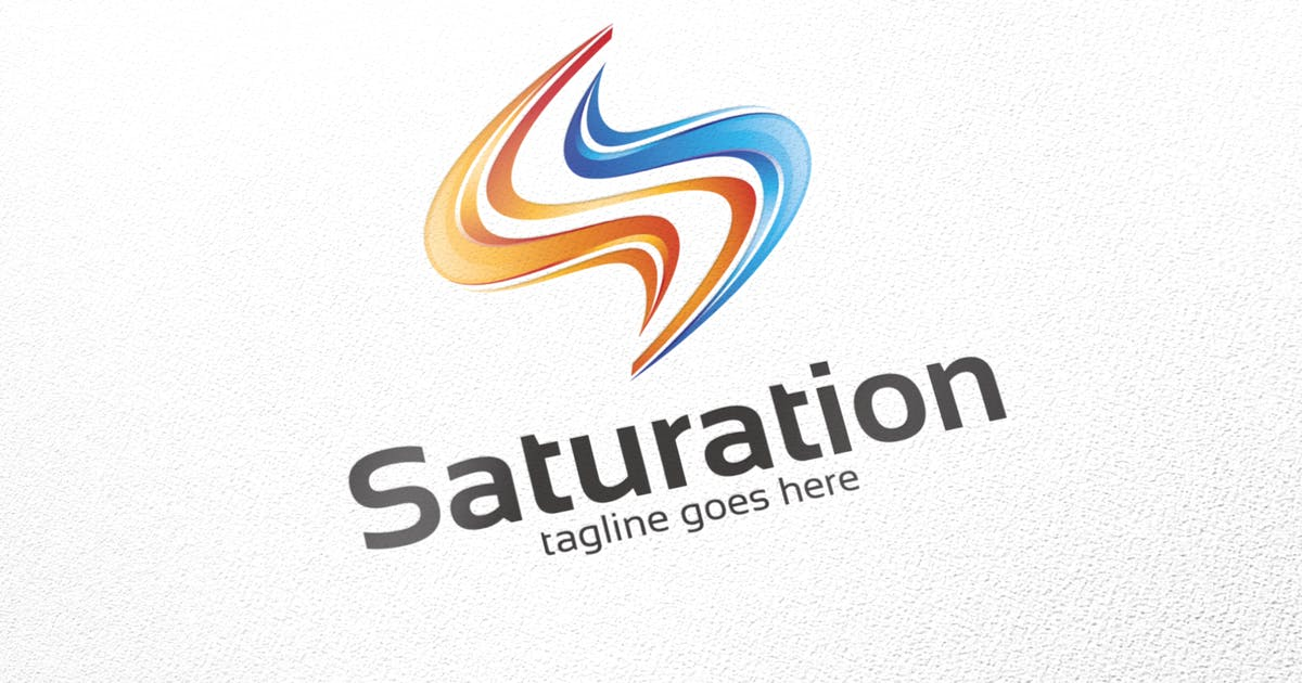 Download Saturation / S Logo - Logo Template by putra_purwanto