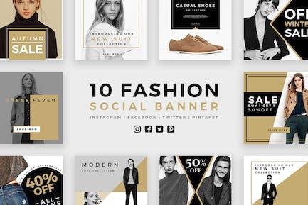 Модные социальные медиа баннеры - Kit 03