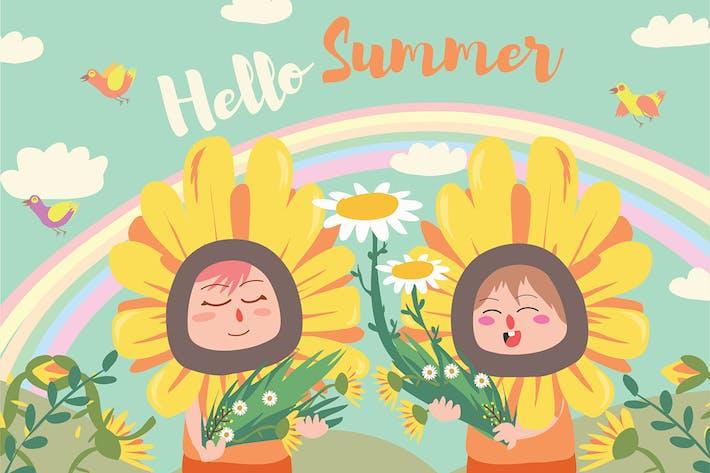 Thumbnail for Hello Summer - Vector Illustration