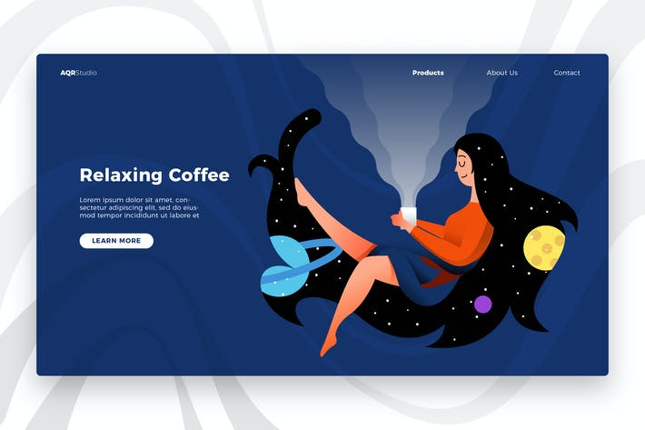 Thumbnail for Relaxing Coffee - Banner & Landing Page