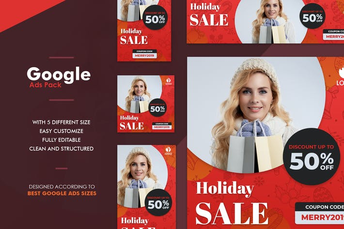 Thumbnail for Google Ads Web Banner Fashion Holiday