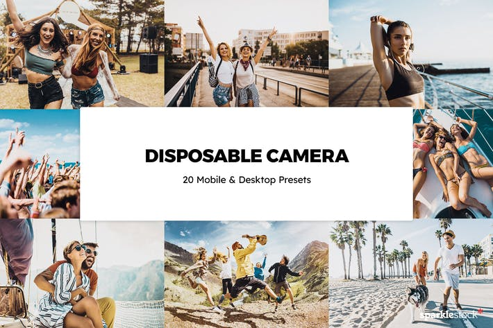 Thumbnail for 20 Disposable Camera Lightroom Presets & LUTs