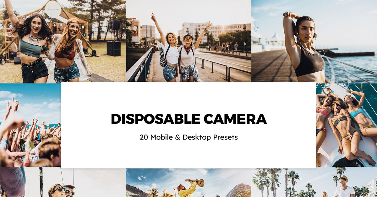 Download 20 Disposable Camera Lightroom Presets & LUTs by sparklestock