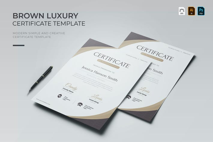 Thumbnail for Brown Luxury | Certificate
