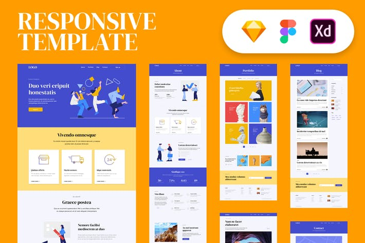 Thumbnail for Responsive Template