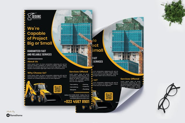 Gedung Construction - Poster RB
