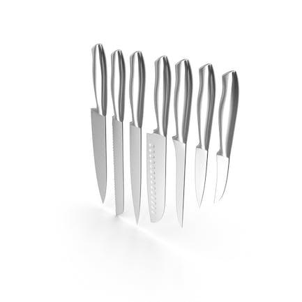 Küchenmesser-Set aus Stahl