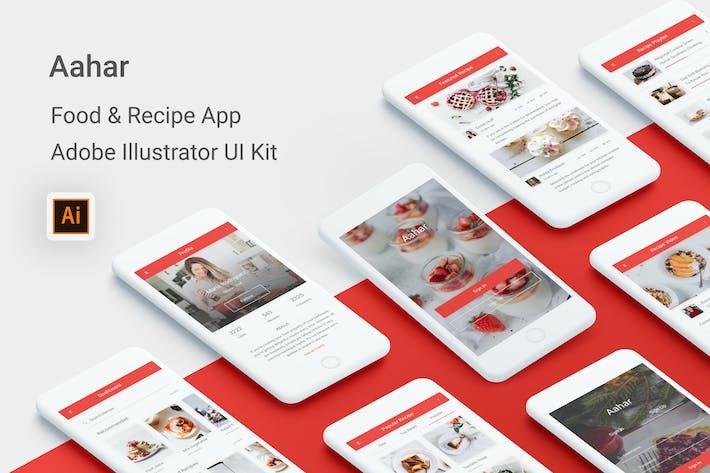 Thumbnail for Aahar - Food & Recipe UI Kit for Illustrator