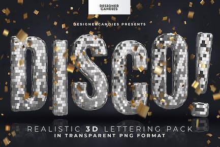 Discokugel 3D Vermietung Pack