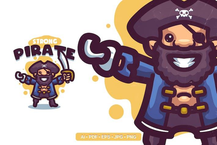 Thumbnail for Strong Pirate Cartoon Logo template