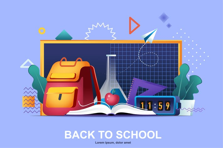 Thumbnail for Back to School Flat Concept Vector Illustration