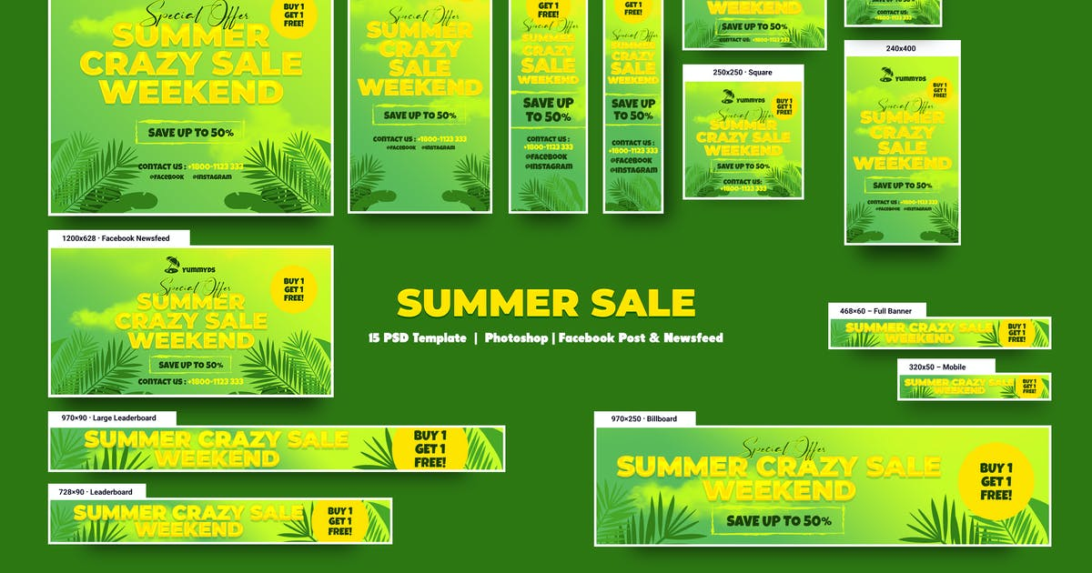 Download Summer Sale Banners Ad by YummyDs