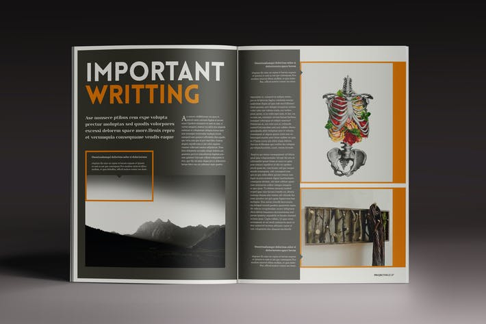 Thumbnail for Goliat Magazine Indesign Template