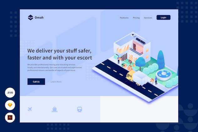Delivery Service - Website Header - illustration