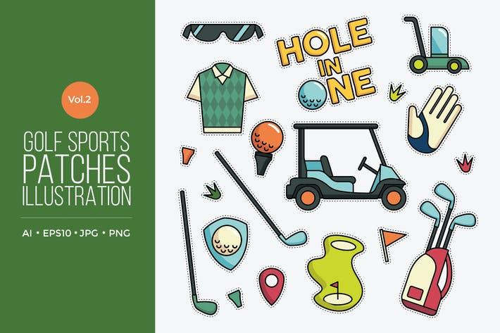 Thumbnail for Golf Vector Patches Vol.2