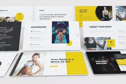 Gym and Fitness Google Slides Presentation