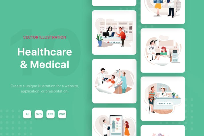 Thumbnail for Healthcare & Medical Illustrations