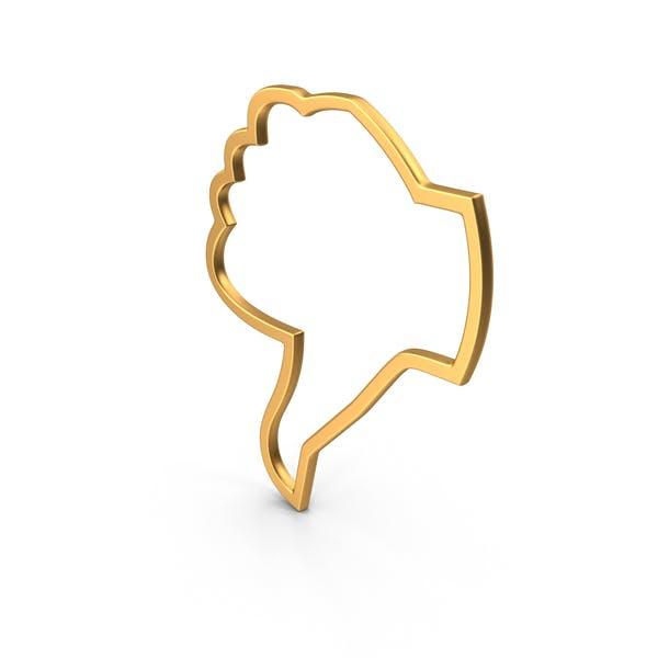 Dislike Symbol Gold