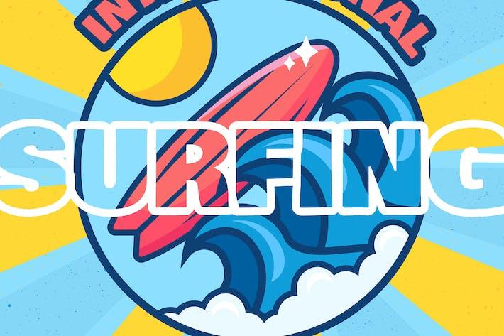 Thumbnail for International Surfing Day Illustration