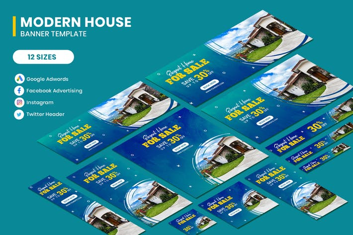 Cover Image For Elegant House Google Adwords Banner Template