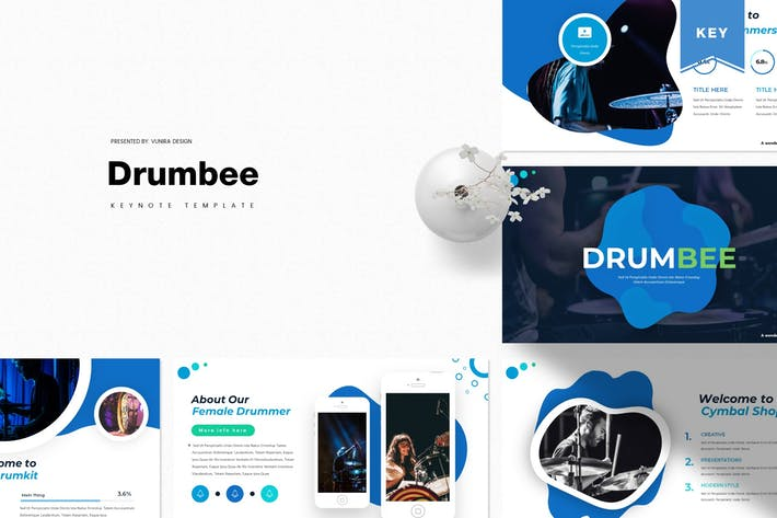 Thumbnail for Drumbee | Шаблон Keynote