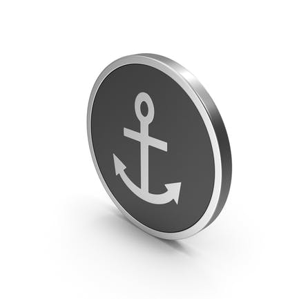 Silver Icon Anchor