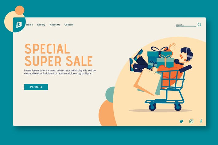 Thumbnail for Special Super Sale - Landing Page GR