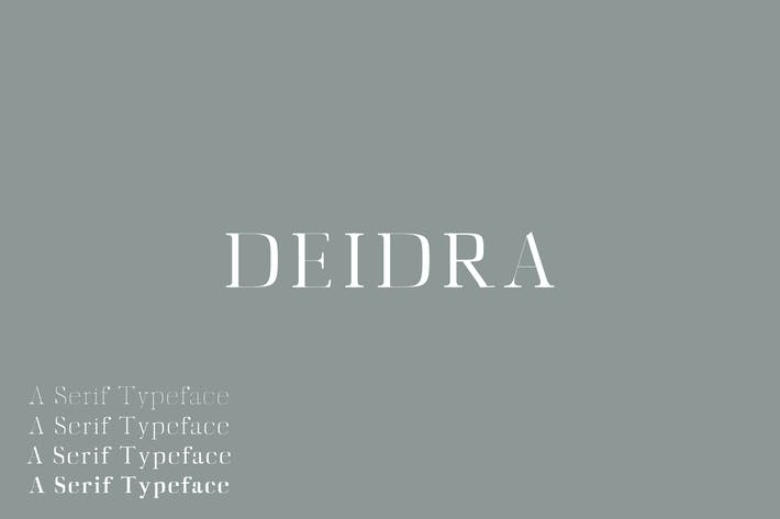 Thumbnail for Diedra Serif Font Family Pack