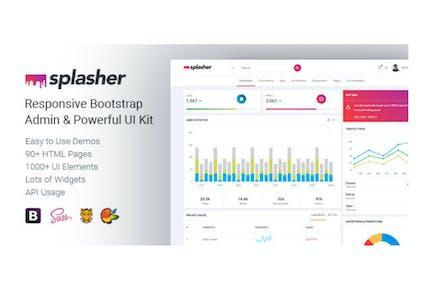 Splasher - Responsive Bootstrap Admin