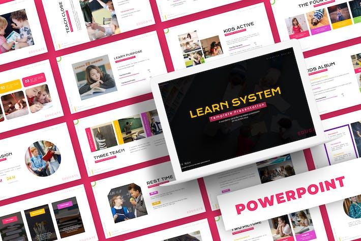 Учить систему - Шаблон Powerpoint