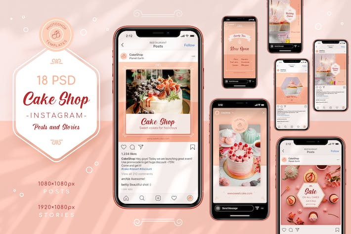 Thumbnail for Cake Shop Instagram Posts & Stories