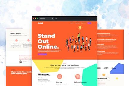 Turus - Modèle d'Agence de marketing numérique