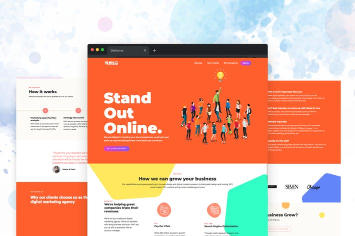 Thumbnail for Turus - Digital Marketing Agency Template