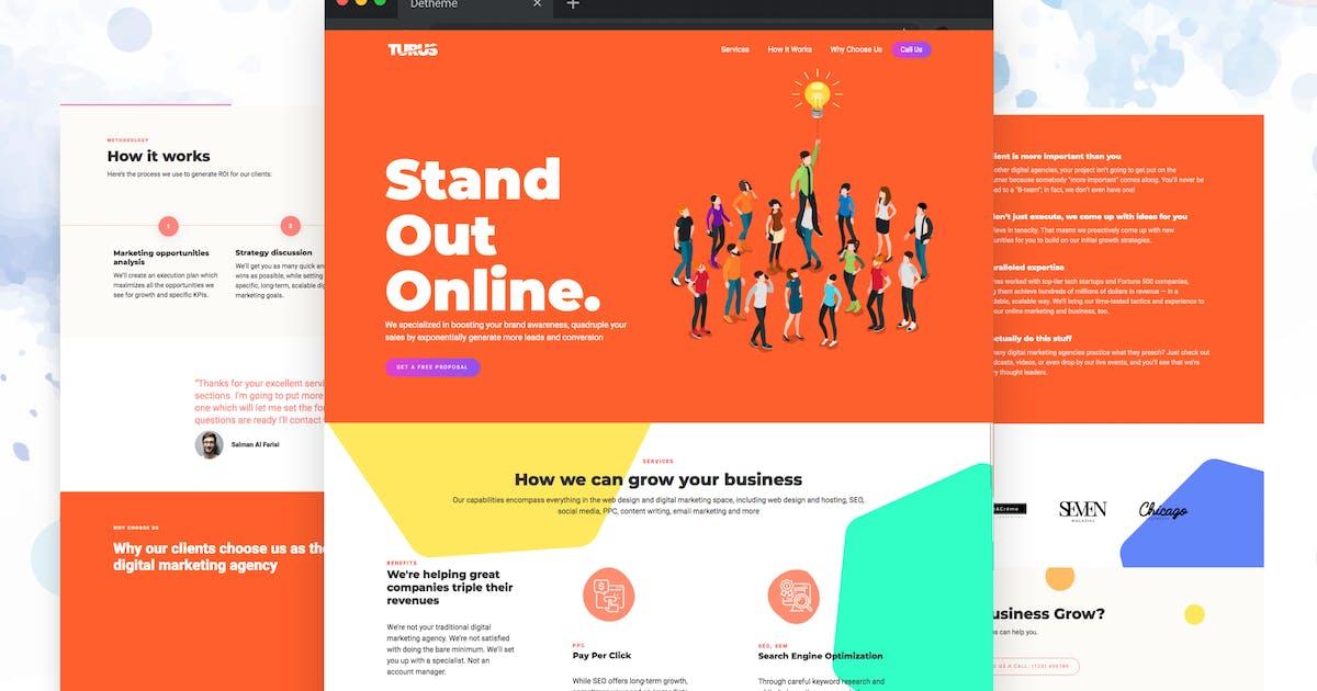 Download Turus - Digital Marketing Agency Template by deTheme