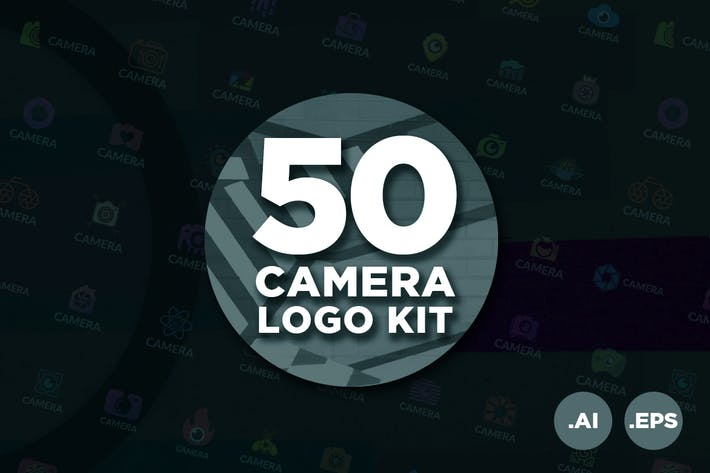 Thumbnail for 50 Photography Camera Logo Kit