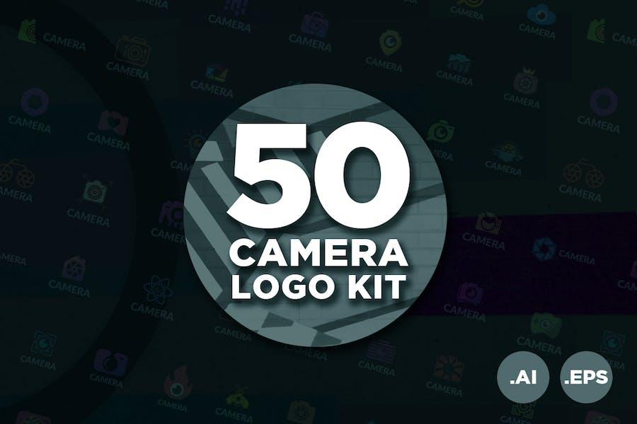 50 Kit de Logo de Cámara de Fotografía