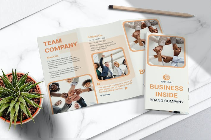 Thumbnail for Business Tri Fold Brochure Vol.03