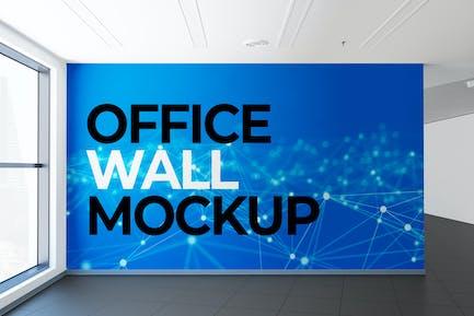 Mural Wall on Office Hall Mockup