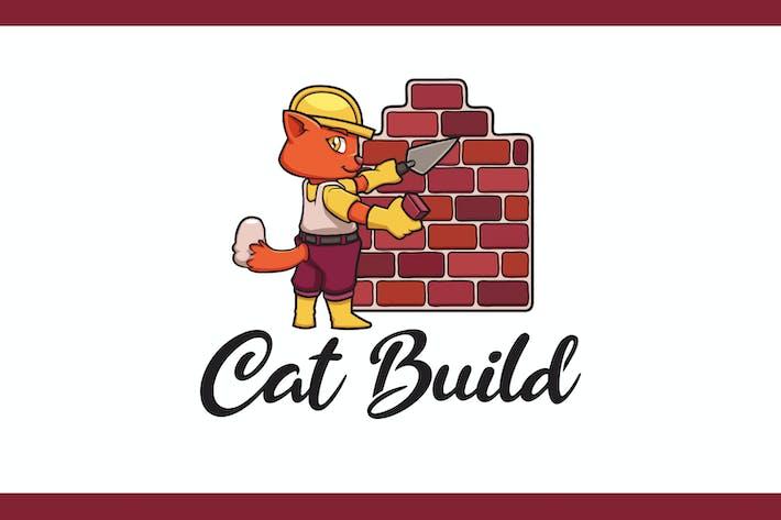 Thumbnail for Логотип талисмана Builder Cat