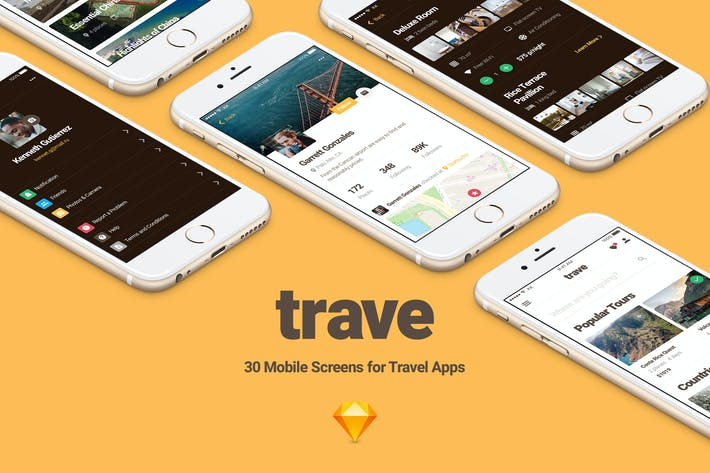 Cover Image For Trave UI Kit